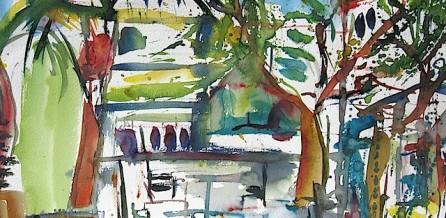 Am Marktplatz in Le Rayol