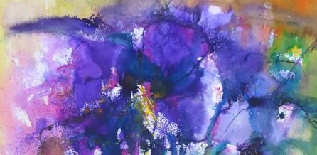 Blüte Aquarell auf Aquarellpapier 56x76 cm (gerahmt 70x100 cm