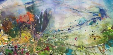 Dieses Aquarellte malte ich am Atelier Cetona