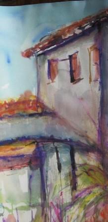 In Südfrankreich in Le Rayol gemalt