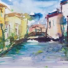 In Venedig gemaltes Aquarell