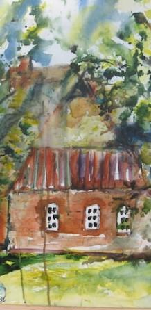 Niedersachsenhaus auf Leinwand