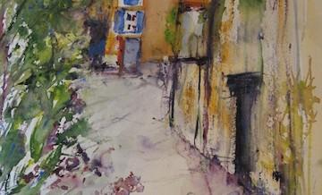 in einer Gasse in der Provence gemalt